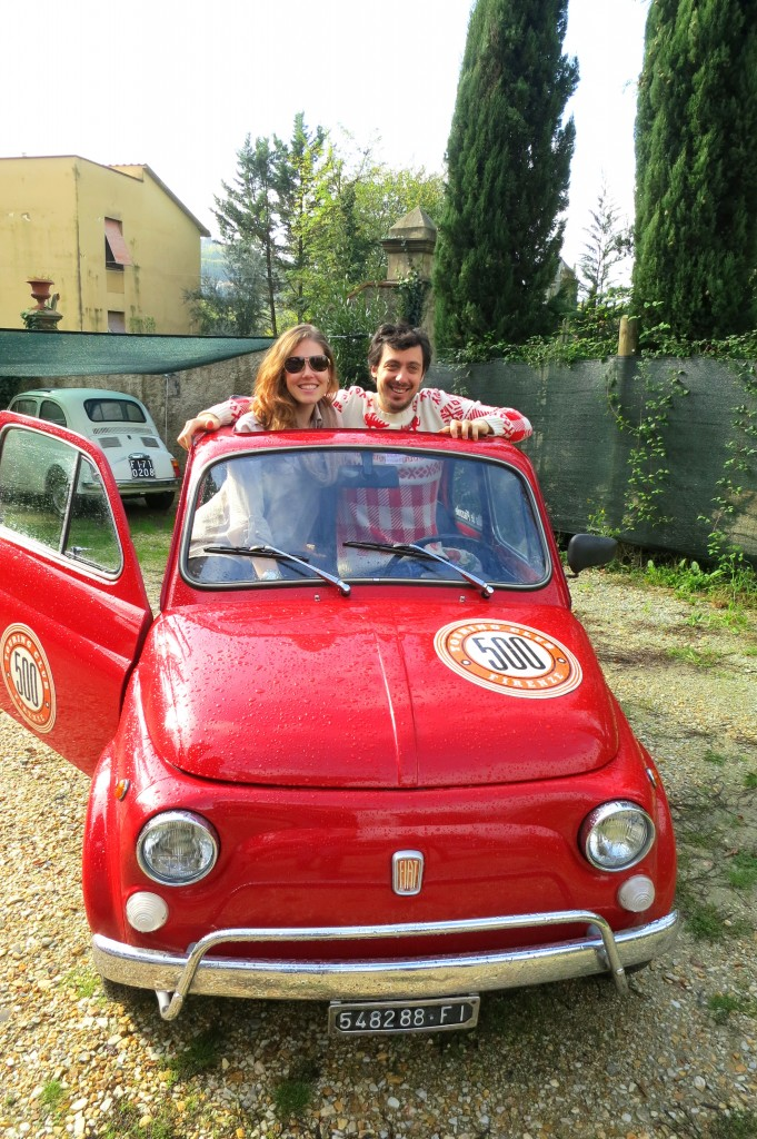 driving Fiats in Florence