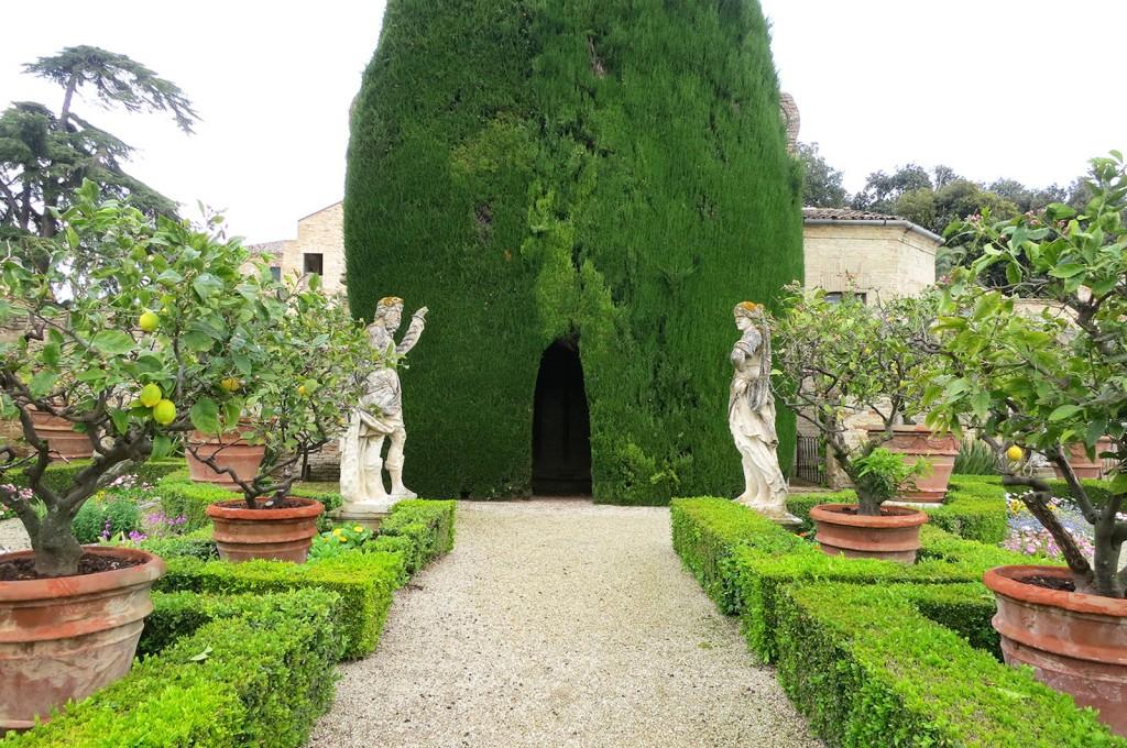 Villa Buonaccorsi Gardens in Italy