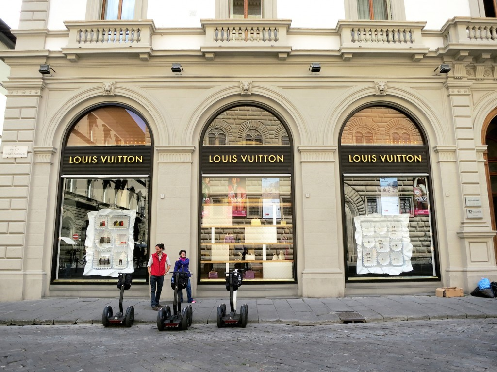 Louis Vuitton in Florence on a Segway Tour