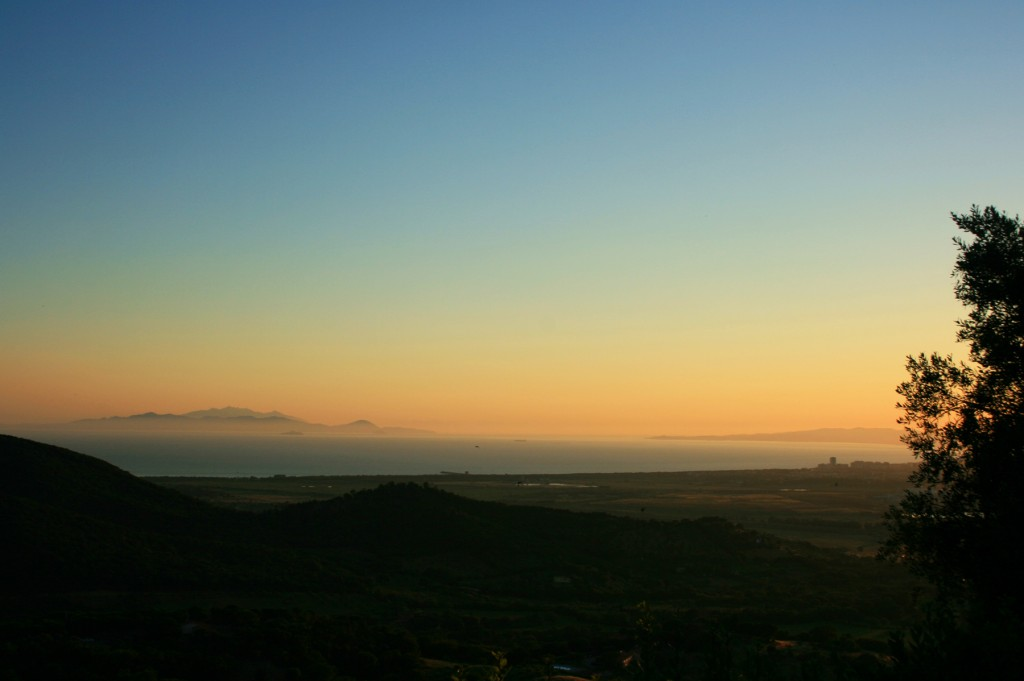 Scarlino Castle view over Maremma