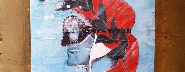 Street art in Florence of Dante by Blub artist