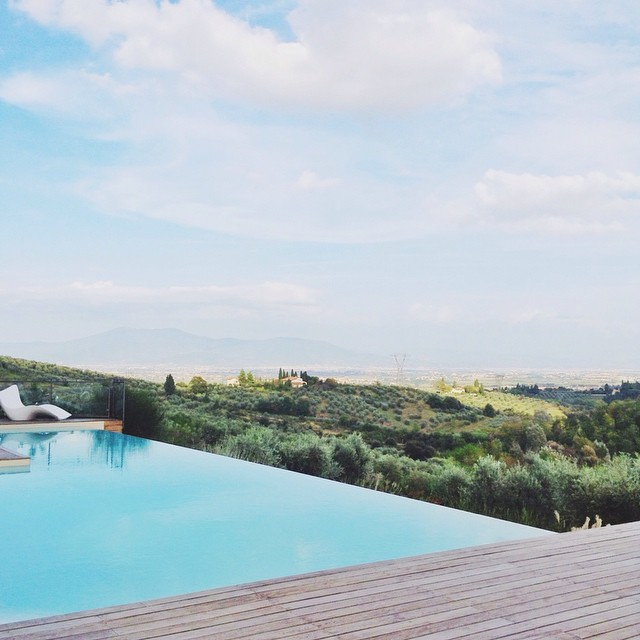 Good things happen when you stay in town. #poolgram #weekendmemories #tuscany