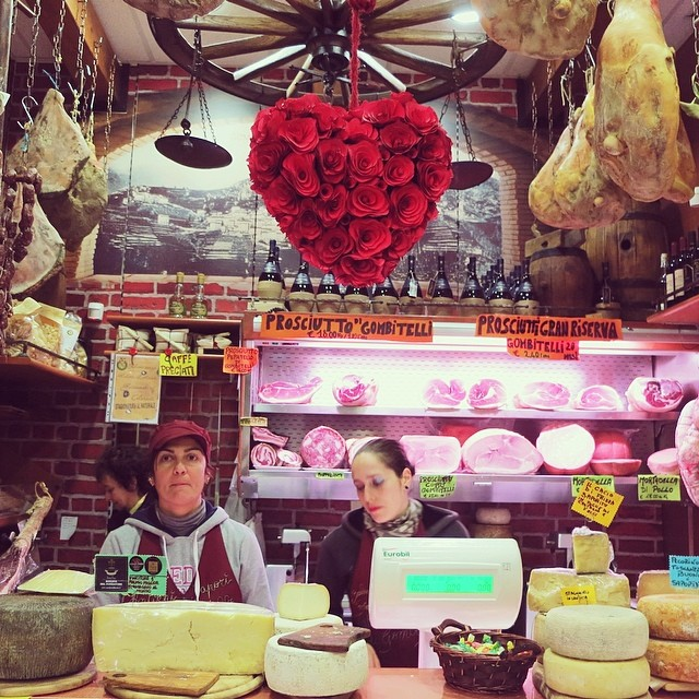 I call this heaven. You can call this Salumeria Triglia. #viareggio #infoodwetrust #prosciuttocheeseandwineohmy!