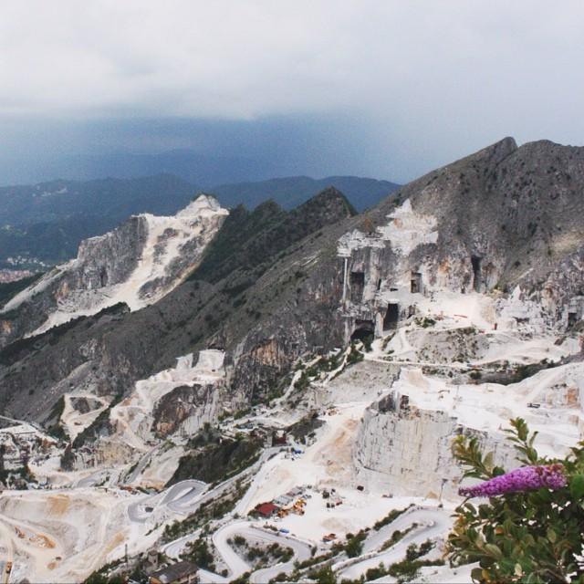 Carrara mystifies with her intense landscape, cuisine and people. Our guide Gabriele Giuntoni was THE Marble Hunter, someone who everyone should meet at least once...special guy in a very special place in Tuscany. #mymarbleweeks