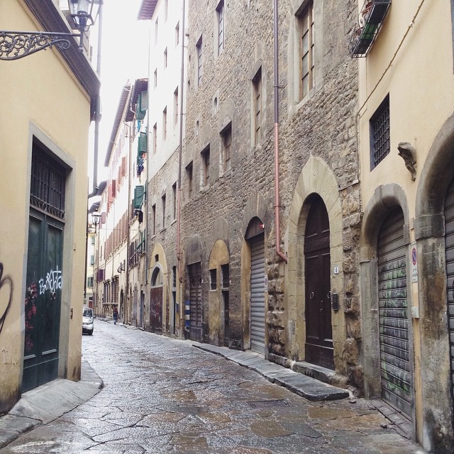 Sometimes there are no forks in the road #florence #cityscape