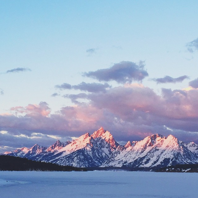 Teton sunrise from last week, can't get enough of you! #jacksonhole