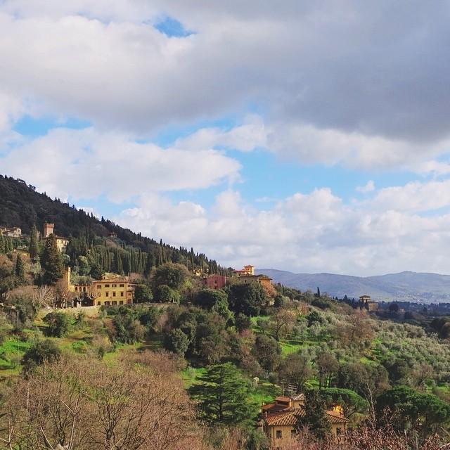 My backyard...if you consider a back yard about a 40min walk uphill! #fiesole #latergram #mybackyardinmydreams