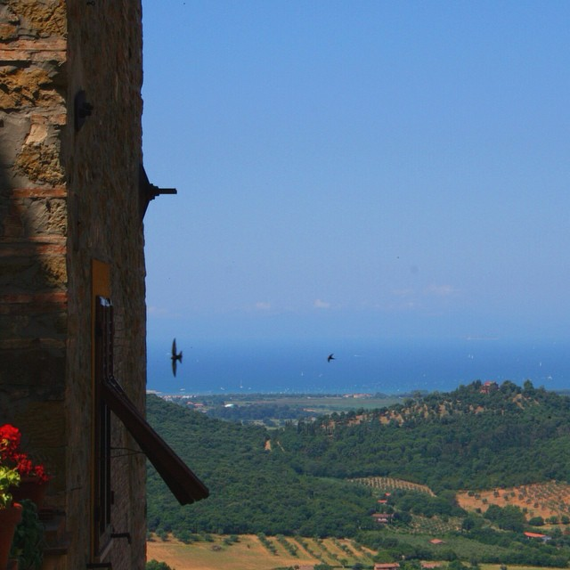 Talk about a view from the top of Scarlino, Maremma. #bestoftuscany #latergram