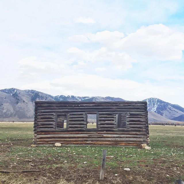 No A/C necessary #jacksonhole #cabinfever