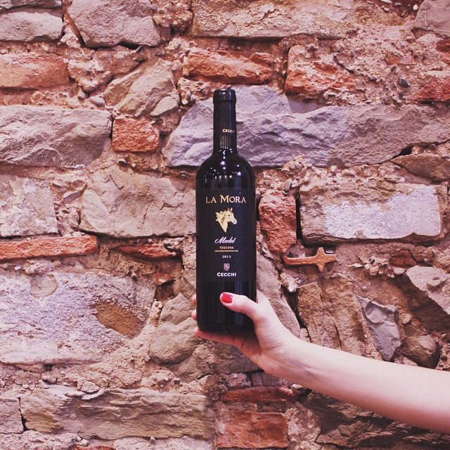 Good things come in black bottles. I was so excited to try @cecchiwinery's newest wine, La Mora Merlot, and thanks to #cecchitaste at @mamafirenze I did just that with a few good friends. Plus, @julskitchen was cooking so just imagine! #withwine