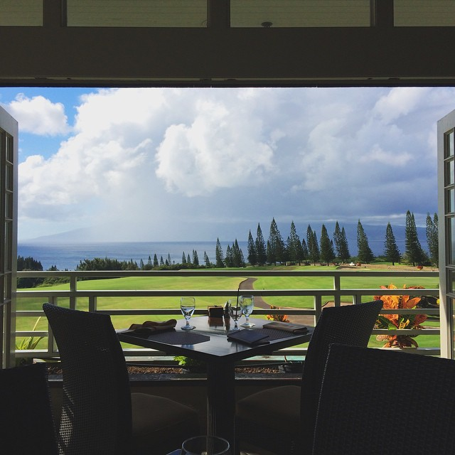 Another lunch, another view! #maui #golfcourseshavethebestviews