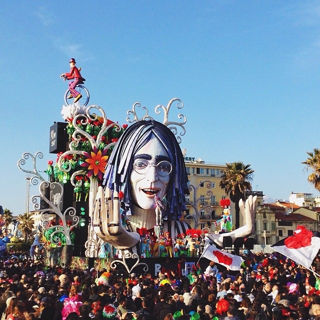 Leave it to John...all you need is love! #carnevaleviareggio14 #canyouhearthemusic