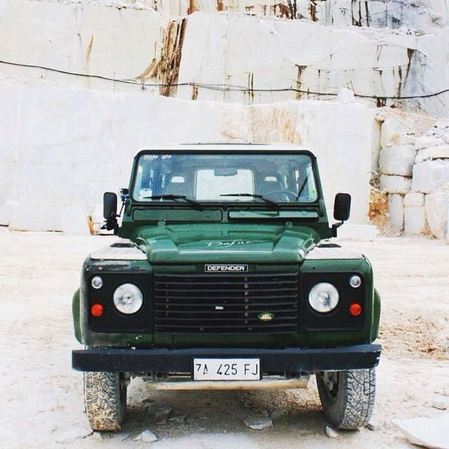 Grrrrr! Read more about the Marble Whisperer on tianakai.com and see more pics and tour details! #carrara #zombiecar
